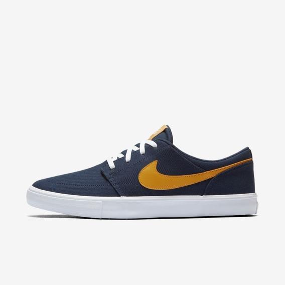 Tênis Nike Sb Portmore 2 Solar Cnvs Azul 880268-401