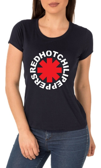 Camisa, Baby Look Red Hot Chilli Papers Rock In Rio 2019