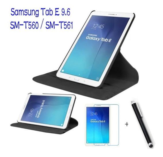 Capa Giratoria Tablet Galaxy Tab E 9.6 T560 +p.vidro +caneta
