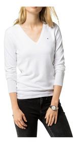 Sweaters Tommy Hilfiger Mujer Cuello V. Super Delicados!