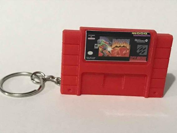 Miniatura / Chaveiro Doom Cartucho Super Nintendo Snes