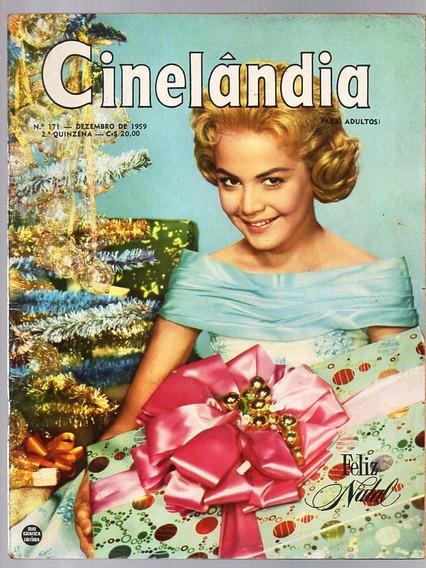 Revista Cinelandia Nº 171 - Elizabeth Taylor G. Lollobrigida
