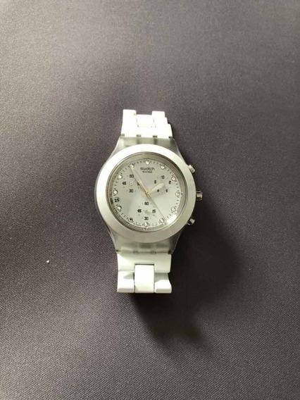 Relógio Swatch Diaphane Branco