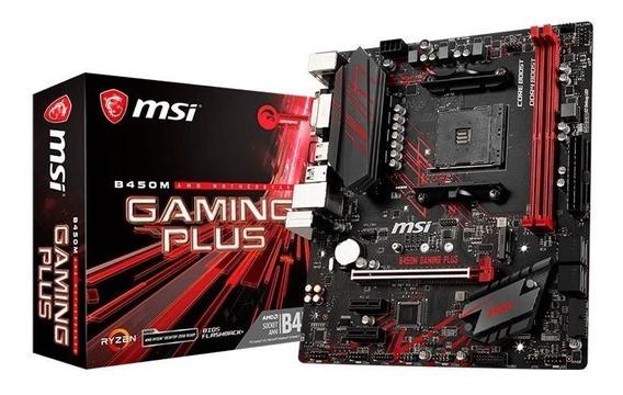 Placa Mãe Msi B450 Gaming Plus Ddr4 Socket Am4 Amd B450