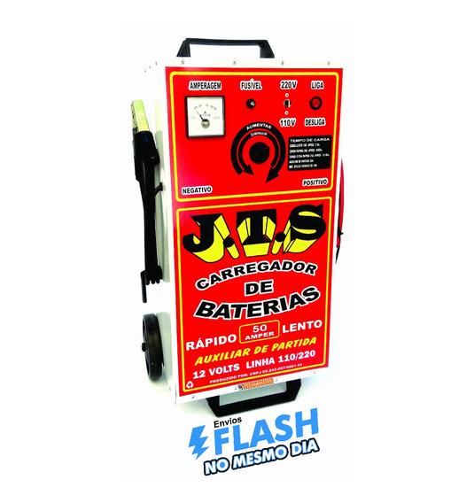 Carregador De Bateria Automotivo 50a + Aux. Partida Jts03