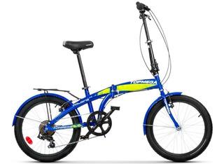 Bicicleta Plegable Top Mega Folding 7vel Shimano+linga+envío