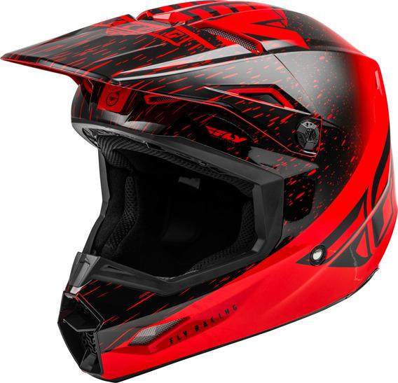 Capacete Motocross Trilha Fly Kinetic K120 Vermelho Preto 56