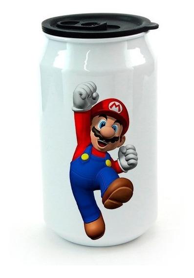 Lata De Aluminio Con Tapa Mario Bros