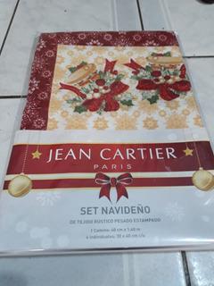 Sets De 4 Individuales + Camino Jean Cartier Navideños