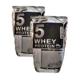 4 Kg Whey 5w (2 Pacotes) Isolado - Hidrolisado - Chocolate