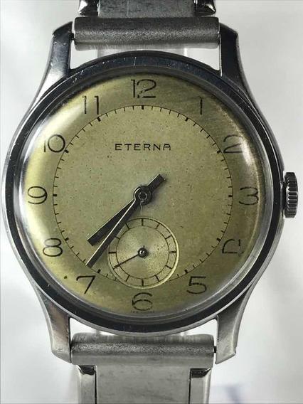Relógio Eterna À Corda Calibre 1020 De 1940 Estilo Militar, Com Pulseira Nova Contemporânea Relogiodovovô