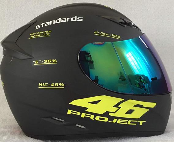 Promoção Valentino Rossi Project46 Df2 + Viseira Camaleão