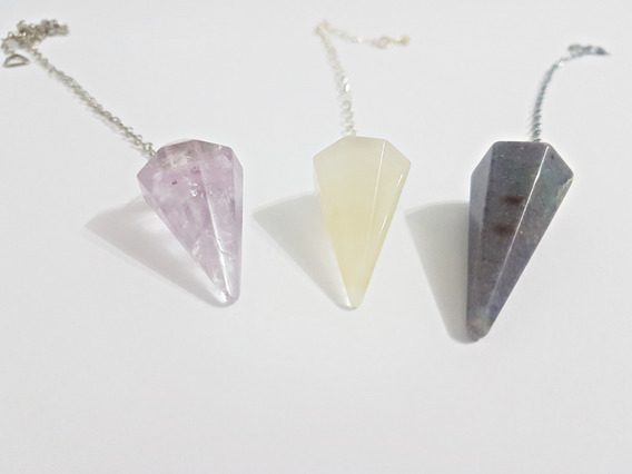 Kit 3 Pêndulos Pedra Natural: Feng Shui, Terapia Radiestesia