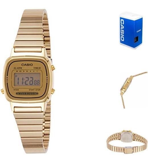 Reloj Casio La670 G9 Dorado Mujer Retro Mini Watchsalas Full