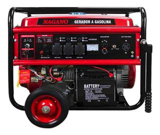 Gerador portátil Nagano NG8100E 8000W monofásico com tecnologia AVR 110V/220V (Bivolt)