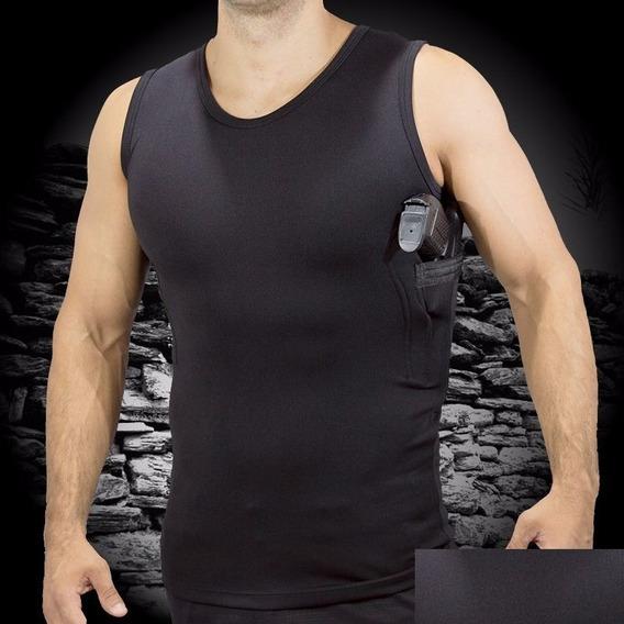 Camisetas Coldre Regata - Com Porta Carregador.- 2un