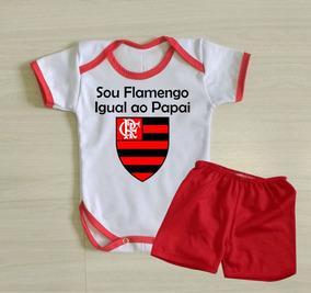 Body Flamengo Igual Ao Papai Conjuntinho Flamengo Para Bebê