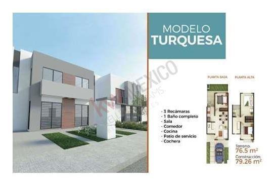 Casa En Venta Fraccionamiento Arcano Residencial, Modelo Turquesa. En Soledad De Graciano Sanchez.