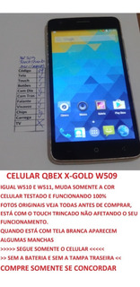 Celular Qbex W509 X-gold W510 Sem Bateria E Tampa Leia (04)