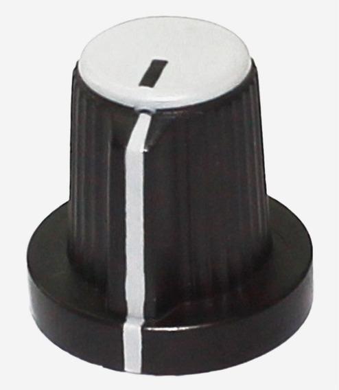 5 Knobs P/ Potenciômetro Eixo Estriado Botão Liga Volume Ton