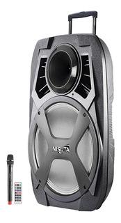 Parlante Portatil Bluetooth Carrito Karaoke Usb Mp3 Nisuta