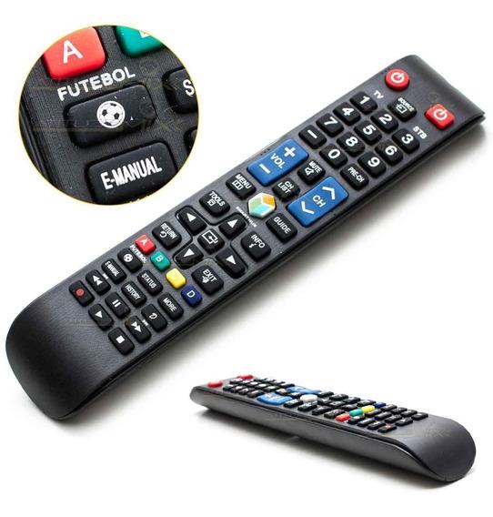 Controle Samsung Remoto Tv Led Lcd 3d Função Futebol Pilhas