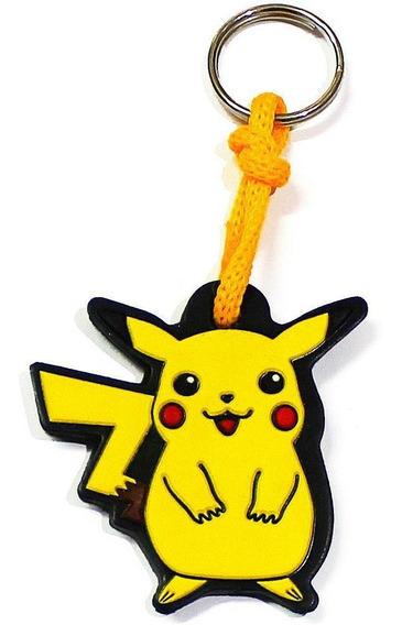 Chaveiro De Borracha Pikachu Pokemon