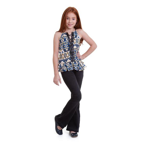 Blusa Acostamento Infantil Fashion Marrom