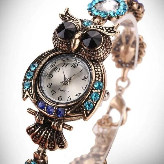 Relógio Feminino Importado De Coruja (preço De Revenda)