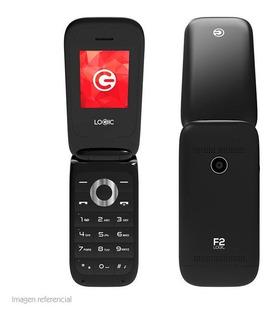 Teléfono Básico Logic F2 1.8 Dual Sim, Radio Fm - Negro