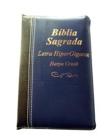Bíblia Letra Hipergigante Com Harpa E Zíper Costurada