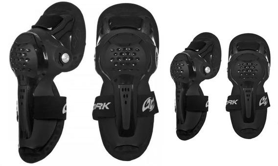 Joelheira + Cotoveleira Articulada Pro Tork Knee Guard Moto