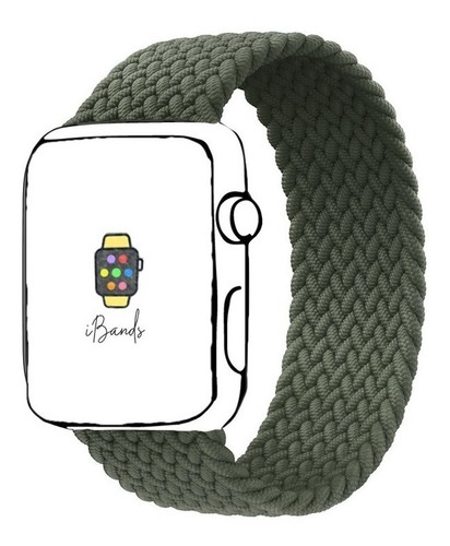 Imagem 1 de 7 de Pulseira Ibands Loop Solo Trançada Para Apple Watch