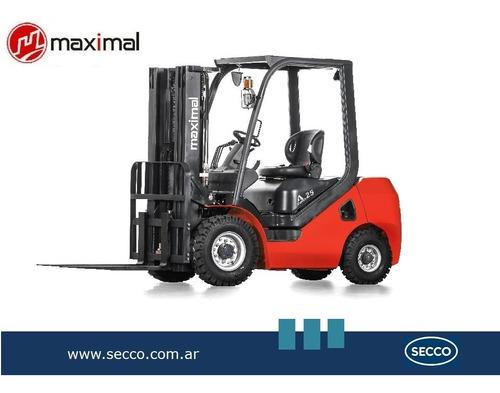 Autoelevador Maximal 2,5tn Diesel Nuevo Diseño Serie A  Desd