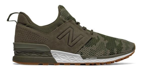 Zapatillas New Balance Ms574dcg - Camuflada/verde