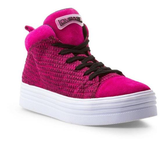 Tênis Casual Feminino Com Ziper Lomba.be Flex Rosa Pink