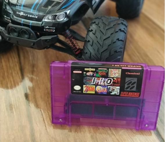 Cartucho Fita 110 Jogos Para Super Nintendo Snes