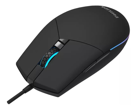 Mouse Comfio Usb Gamer Philips 6 Botões Programáveis Spk9304