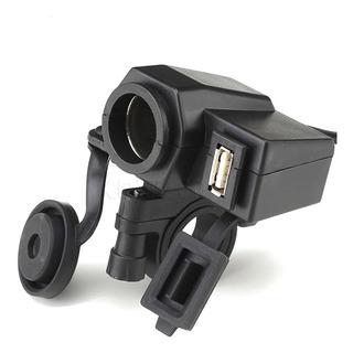 Cargador Usb Motocicleta Encendedor Celular Gps Impermeable
