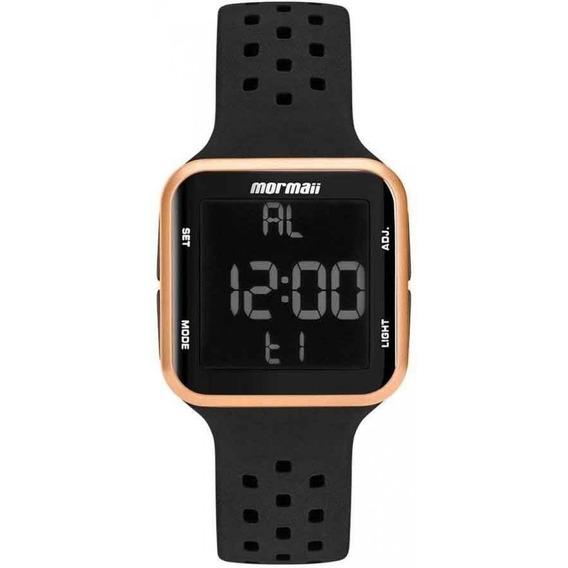 Relógio Mormaii Feminino Silicone Preto Digital Mo6600/8j