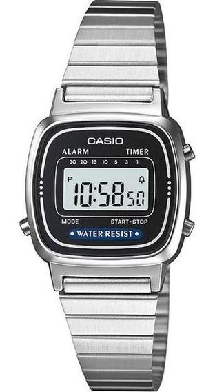 Relogio Casio Cx Aluminio Pu Aço Qz - La670wa-2