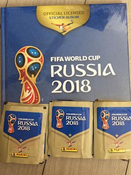 Set Album Mundial Rusia 2018 Pasta Dura Y 30 Sobres Panini