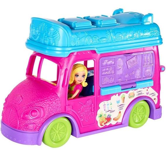 Boneca Polly Pocket Food Truck Divertido 2 Em 1 Mattel Fph98