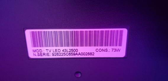 Painel Tv Toshiba Mod.tv Led 43l2500(placa Já Vendida)s/tela