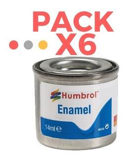 Pintura Humbrol Enamel - Pack X 6