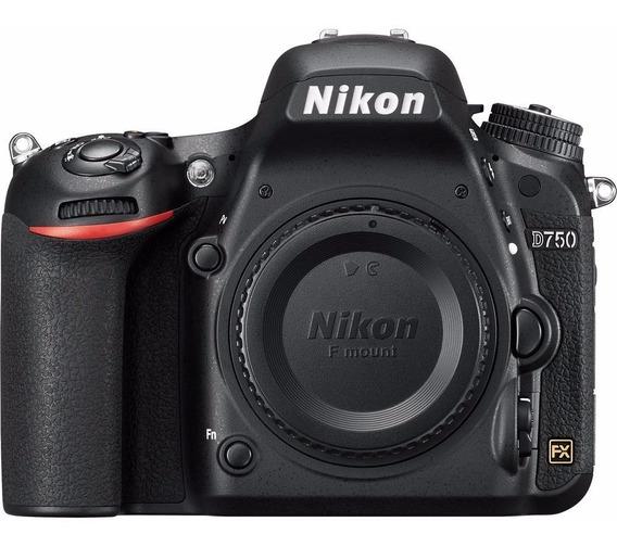Nikon D750 Fullframe, 24,3 Mp, Wifi Nfe + 2 Anos De Garantia