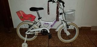 Bicicleta Para Niña Rodado 16, Blanca