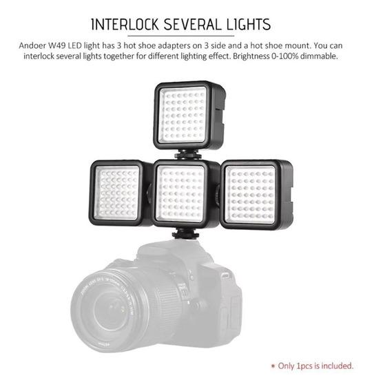 4x Iluminador Led 49 Leds Para Dslr Canon Nikon Sony