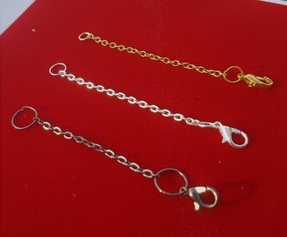 3 Extensores Colar 8cm Banho: 1 Ouro+ 1 Prata+ 1grafite 1121