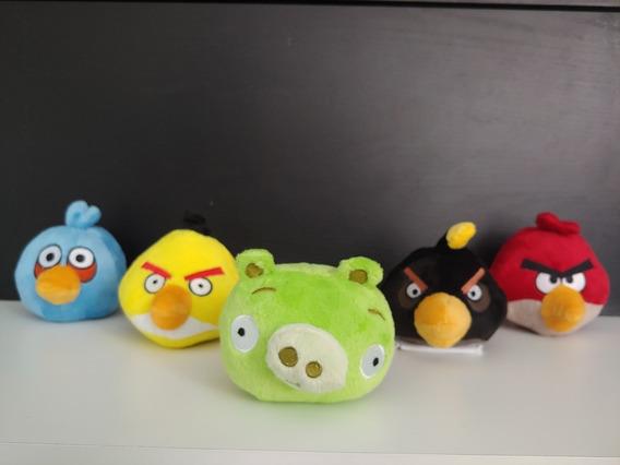 Coleção Pelúcia Angry Birds - Kit 5 Peças